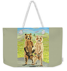 Hoedown On The Tundra Weekender Tote Bag by Phyllis Kaltenbach