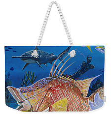 Hog Fish Spear Weekender Tote Bag by Carey Chen
