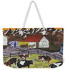 Hog Heaven Farm Weekender Tote Bag by Jeffrey Koss