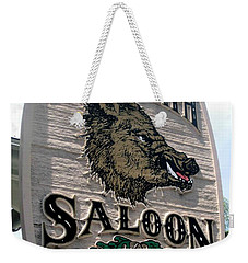 Hog's Breath Saloon Weekender Tote Bag by Fiona Kennard