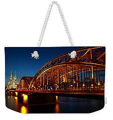 Hohenzollern Bridge Weekender Tote Bag by Mihai Andritoiu