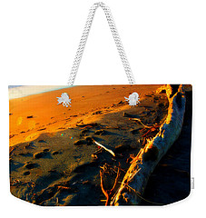 Weekender Tote Bag featuring the photograph Hokitika Beach New Zealand by Amanda Stadther