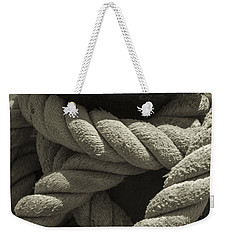 Hold On Black And White Sepia Weekender Tote Bag