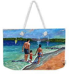 Holding Hands Weekender Tote Bag by Laura Forde