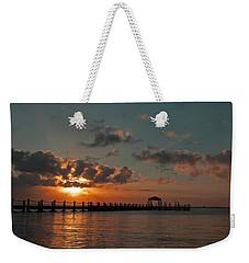 Holgate Bay Sunset Weekender Tote Bag