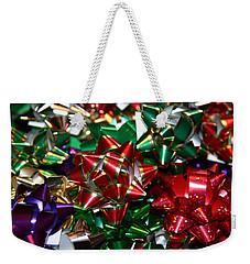 Holiday Bows Weekender Tote Bag by Denyse Duhaime