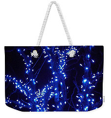 Holiday Glow Blue Weekender Tote Bag by Darren Robinson