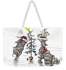Holiday Ice Weekender Tote Bag