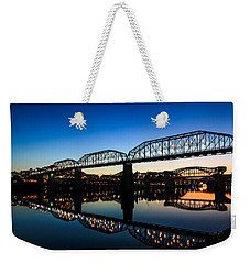 Holiday Lights Chattanooga Weekender Tote Bag