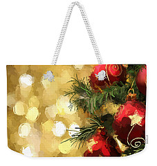 Holiday Ornaments Weekender Tote Bag by Anthony Fishburne