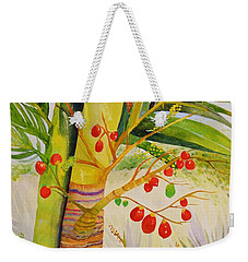 Holiday Palm Weekender Tote Bag