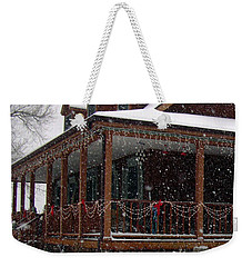 Holiday Porch Weekender Tote Bag