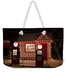 Holiday Service Station Weekender Tote Bag by Susan  McMenamin