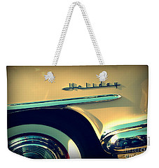 Weekender Tote Bag featuring the photograph Holiday by Valerie Reeves