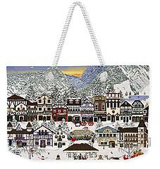 Holiday Village Weekender Tote Bag