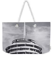 Hollywood Landmarks - Capital Records Weekender Tote Bag by Art Block Collections