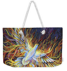 Holy Fire Weekender Tote Bag by Nancy Cupp