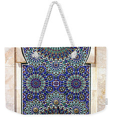 Holy Water Fountain Hassan II Mosque Sour Jdid Casablanca Morocco  Weekender Tote Bag by Ralph A  Ledergerber-Photography