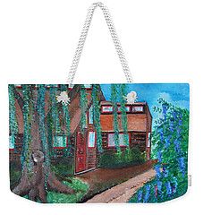 Weekender Tote Bag featuring the painting Home by Cassie Sears