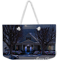 Weekender Tote Bag featuring the photograph Home For Christmas by Bonnie Willis