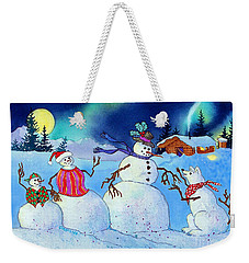 Home For The Holidays Weekender Tote Bag by Teresa Ascone