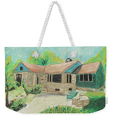 Weekender Tote Bag featuring the painting Home Sweet Home by Jeanne Fischer