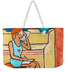 Weekender Tote Bag featuring the painting Home Where My Heart Is Iv by Xueling Zou