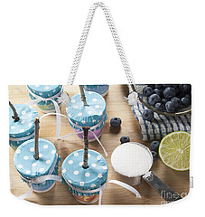Homemade Blueberry Popsicles Weekender Tote Bag by Juli Scalzi