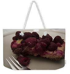 Weekender Tote Bag featuring the photograph Homemade Cheesecake by Miguel Winterpacht