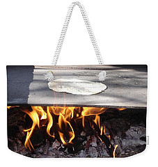 Weekender Tote Bag featuring the photograph Homemade Tortillas by Kerri Mortenson