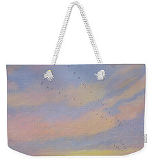Homeward Weekender Tote Bag by Ann Brian
