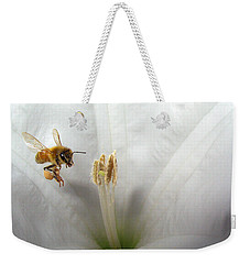 Honey Bee Up Close And Personal Weekender Tote Bag
