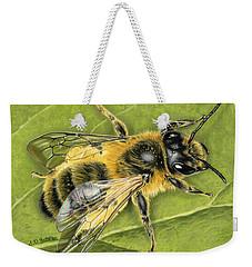 Honeybee On Leaf Weekender Tote Bag