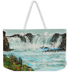 Honeymoon At Godafoss Weekender Tote Bag