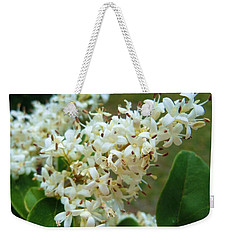 Weekender Tote Bag featuring the photograph Honeysuckle #1 by Robert ONeil