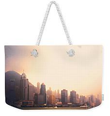Hong Kong Harbour Sunset Weekender Tote Bag by Pixel  Chimp