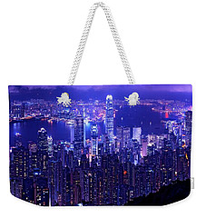 Hong Kong In Purple Weekender Tote Bag