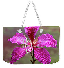 Hong Kong Orchid Tree Flower Weekender Tote Bag by Venetia Featherstone-Witty