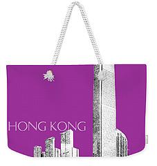 Hong Kong Skyline 2 - Plum Weekender Tote Bag