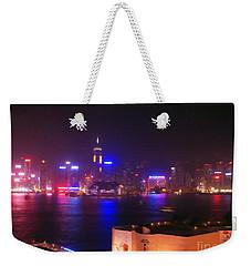 Hong Kong Skyline Weekender Tote Bag by Pixel  Chimp