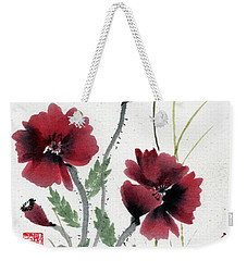 Weekender Tote Bag featuring the painting Honor With Buddha Quote I by Bill Searle