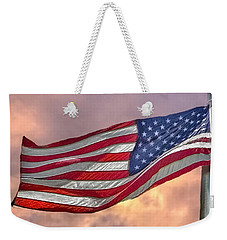 Weekender Tote Bag featuring the photograph Honoring The Heroes  by Charlotte Schafer