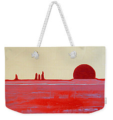 Hoodoo Sunrise Original Painting Weekender Tote Bag