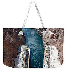 Hoover Dam Black Canyon Weekender Tote Bag by John Schneider