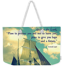 Hope And A Future Weekender Tote Bag by Valerie Reeves