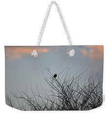 Hope Perched  Atop Weekender Tote Bag by Sonali Gangane