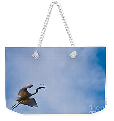 Hopeful Egret Building A Home  Weekender Tote Bag