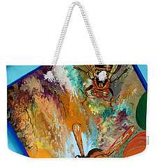 Weekender Tote Bag featuring the painting Hornets by Daniel Janda