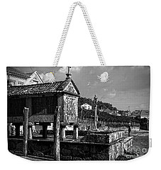 Horreo And Cruceiro In Galicia Bw Weekender Tote Bag