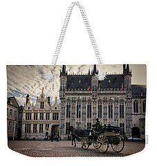Horse And Carriage Weekender Tote Bag by Joan Carroll